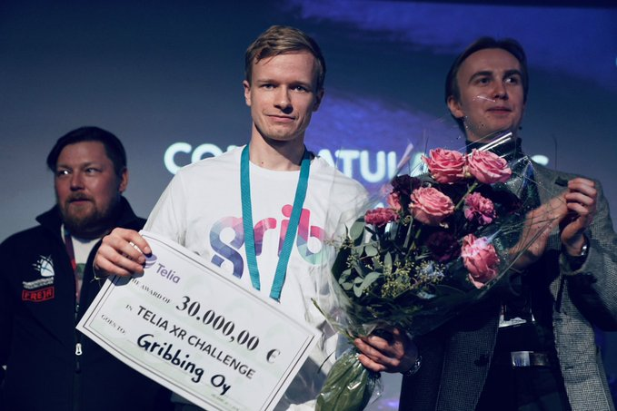 Grib wins Telia Awards at XR center in Helsinki